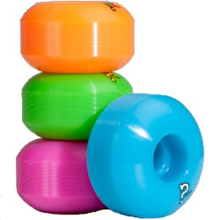 Enuff Refresher Fluo Mix Skateboard Wheels (Pack of 4)
